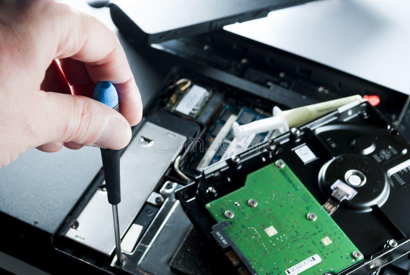 Download Компьютер отладки человека стоковое изображение. изображение насчитывающей прибор - 40580411