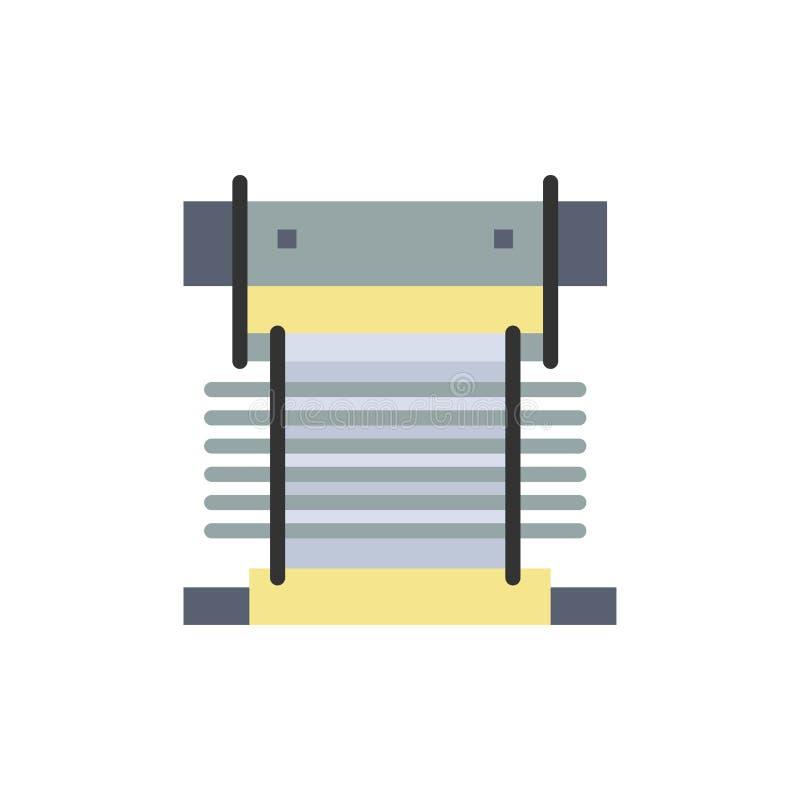 Компьютер, охладитель, охлаждая, C.P.U., значок цвета вентилятора плоский Шаблон знамени значка вектора иллюстрация штока