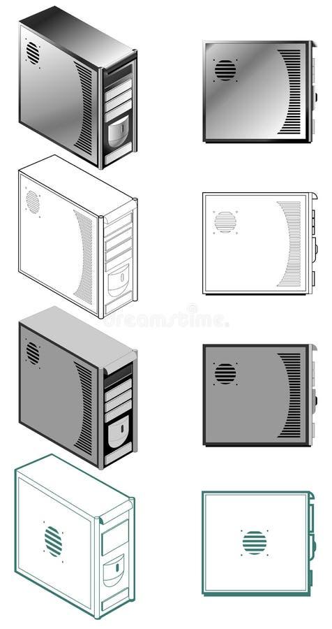 компьютер случая иллюстрация вектора