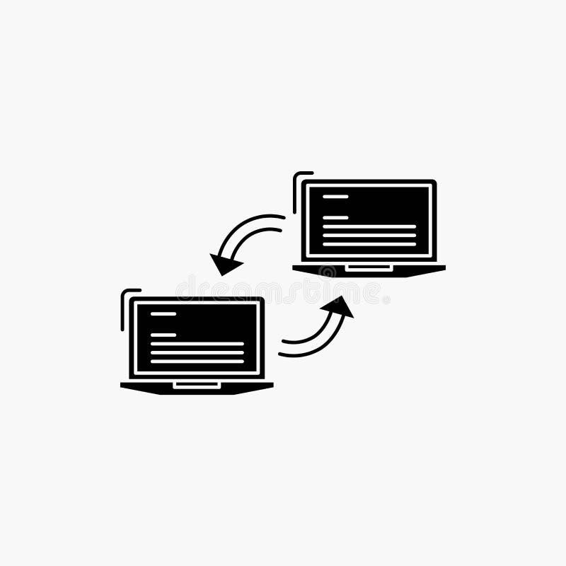 Компьютер, соединение, связь, сеть, значок глифа синхронизации r бесплатная иллюстрация