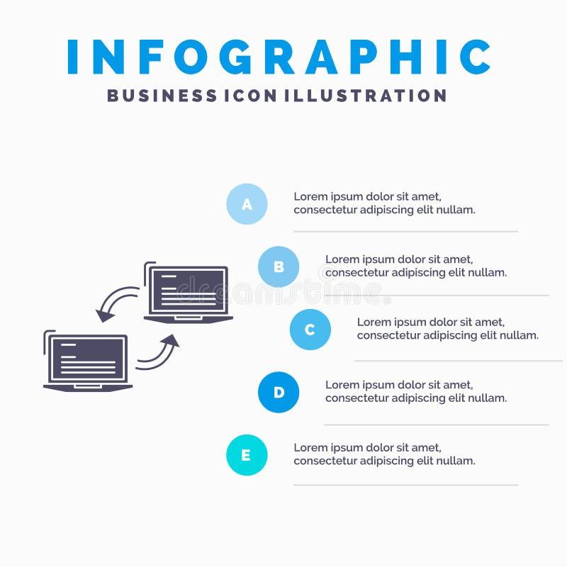 Компьютер, соединение, связь, сеть, шаблон Infographics синхронизации для вебсайта и представление r бесплатная иллюстрация
