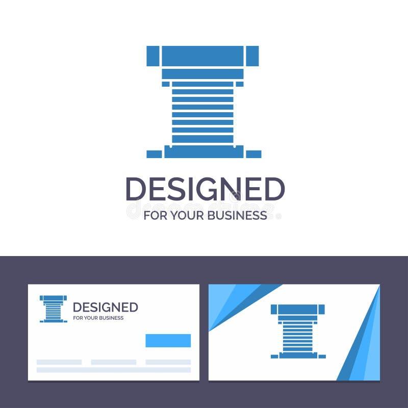 Компьютер творческого шаблона визитной карточки и логотипа, охладитель, охлаждая, C.P.U., иллюстрация вектора вентилятора бесплатная иллюстрация