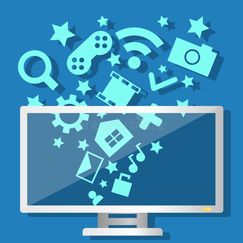 Компьютер технологии средств массовой информации бесплатная иллюстрация