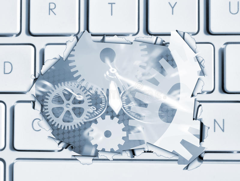 компьютер clockwork бесплатная иллюстрация