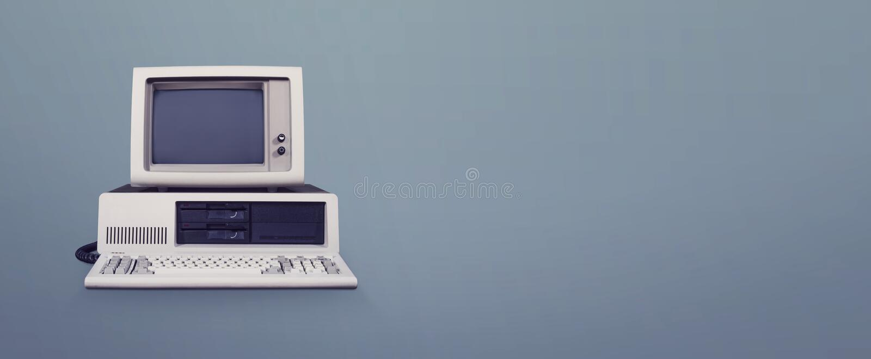Компьютер DOS стоковая фотография