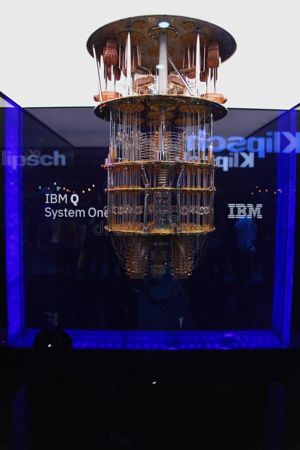 Компьютер IBM Кванта на CES 2019 стоковое изображение rf
