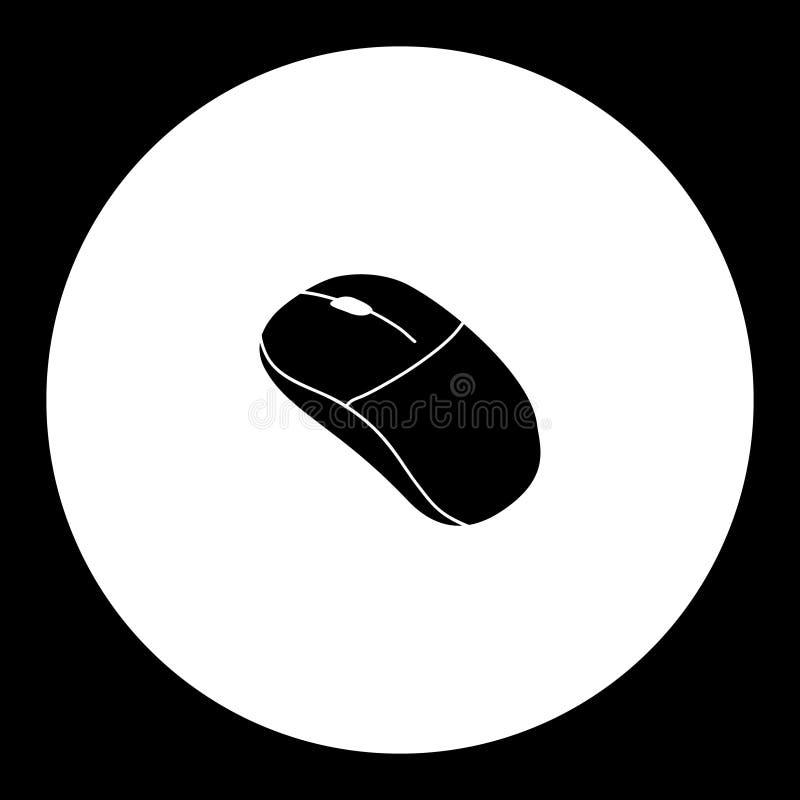 Компьютер input значок eps10 мыши периферийный простой черный иллюстрация штока