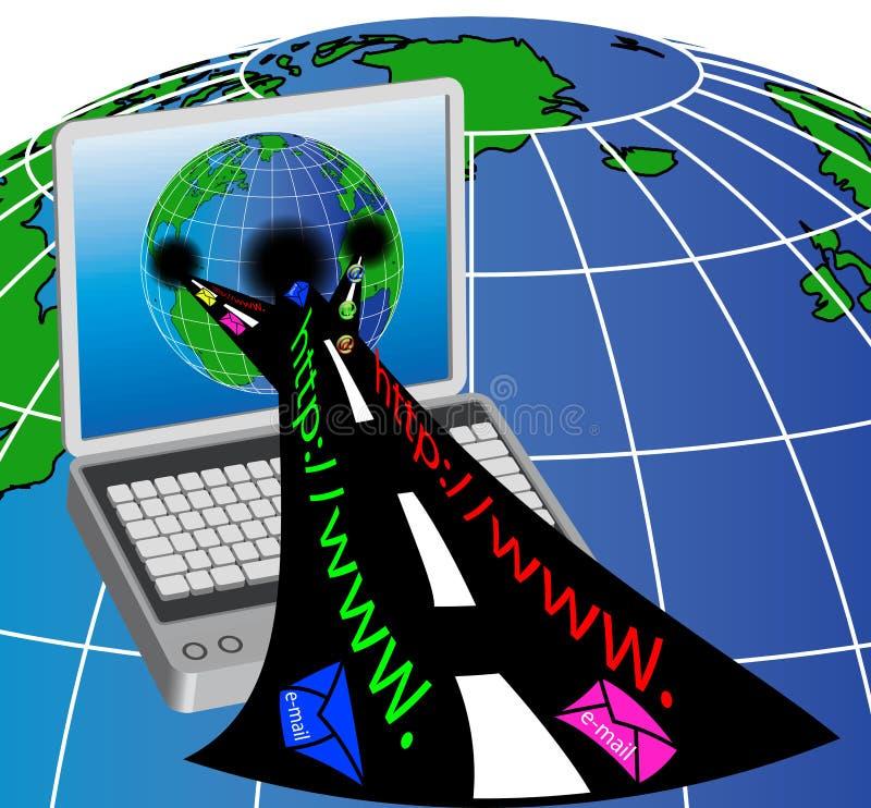 компьютер mail3 иллюстрация вектора