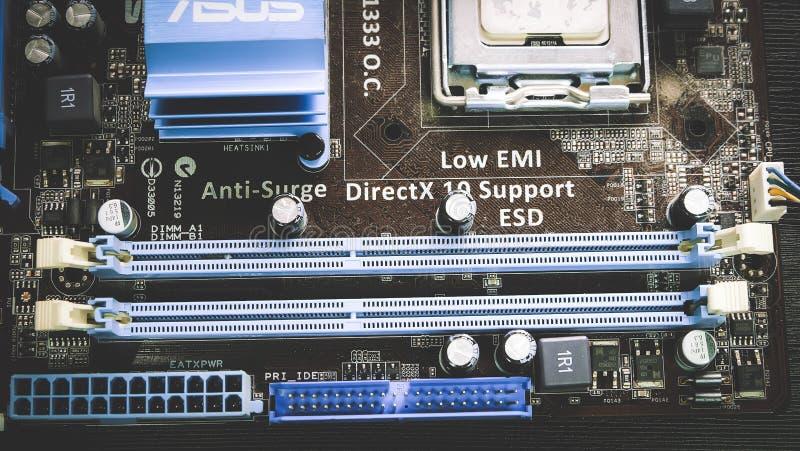 Компьютер Mainboard стоковые фотографии rf