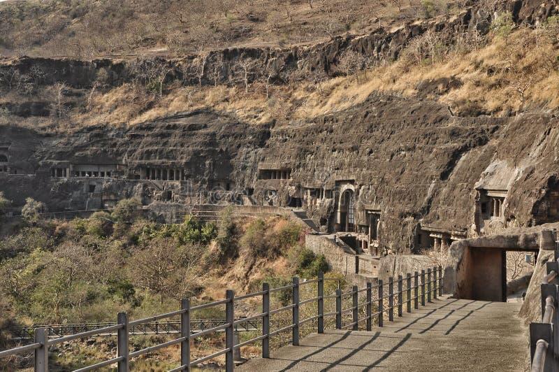 Комплексы виска пещеры Ajanta и Ellora стоковое фото