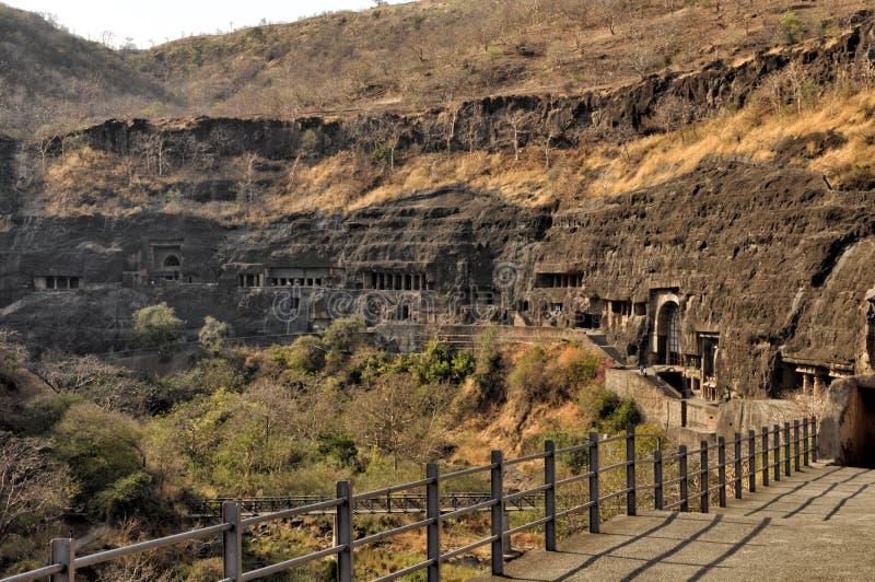 Комплексы виска пещеры Ajanta и Ellora стоковое фото rf