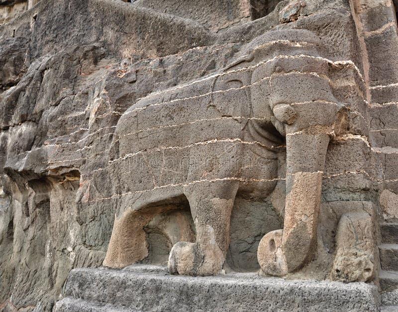 Комплексы виска пещеры Ajanta и Ellora стоковые фото