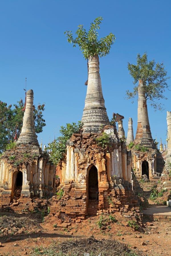 Комплекс пагоды Dain гостиницы Shwe стоковое изображение rf