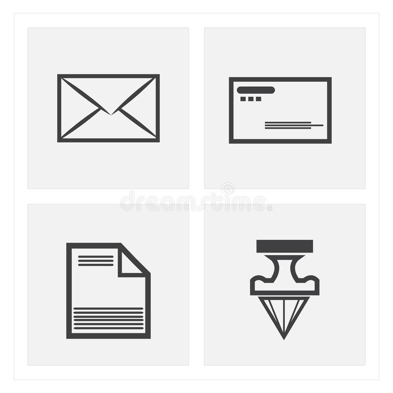 комплекты значка письма стоковое изображение rf