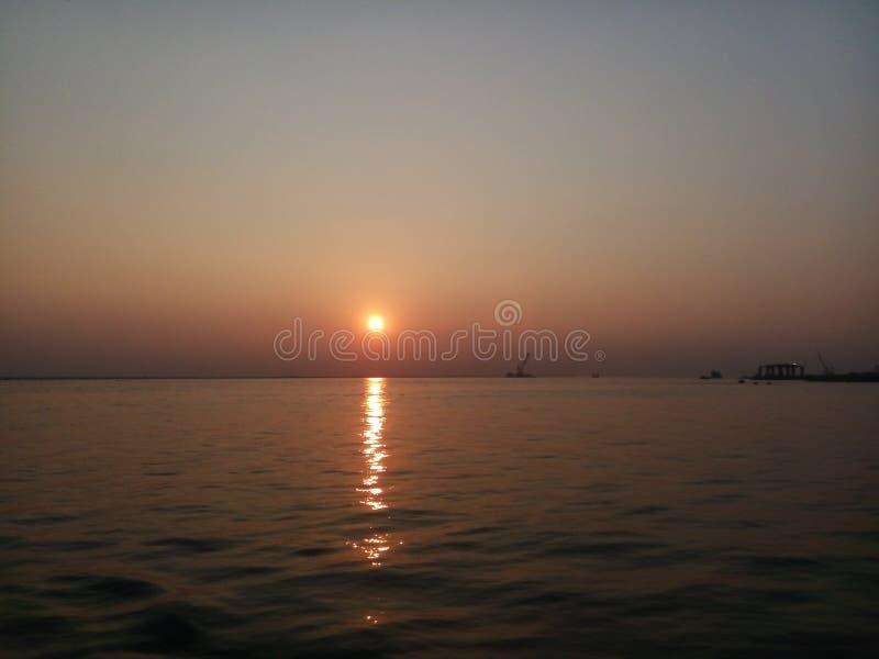 Комплекты Солнця Красивейшее место стоковое фото