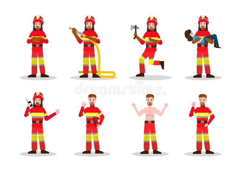 Комплекты Firefighting иллюстрация штока
