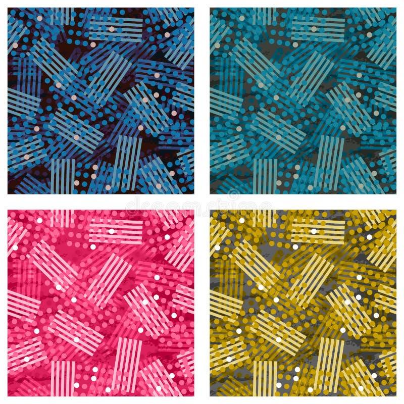 Комплект абстрактной картины предпосылки с элементами точки стоковые изображения rf