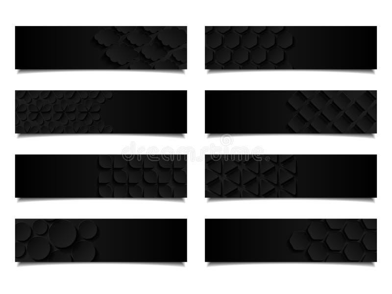 Комплект абстрактных геометрических знамен бесплатная иллюстрация