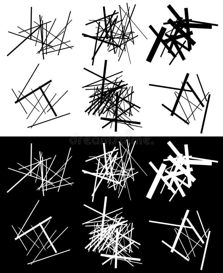 Download Комплект абстрактных геометрических элементов с линиями в черно-белом Иллюстрация вектора - иллюстрации насчитывающей динамически, форма: 81800223