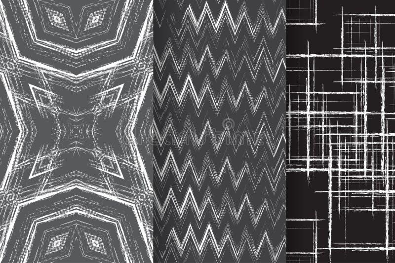 Комплект 3 абстрактных картин иллюстрация штока