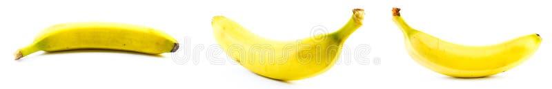 Комплект 3 бананов на белой предпосылке стоковые изображения