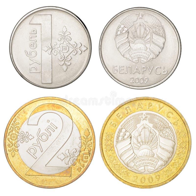 Комплект белорусских монеток стоковая фотография