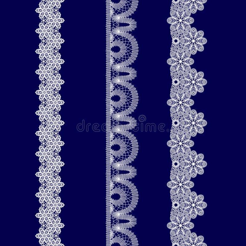Комплект белых лент шнурка стоковая фотография rf