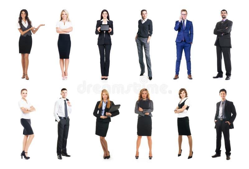 Комплект бизнесменов изолированных на белизне стоковое фото rf