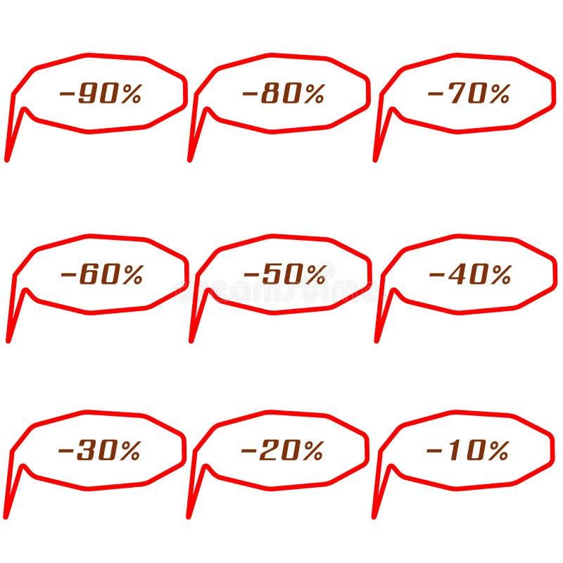Комплект бирок продажи специального предложения угловых иллюстрация штока