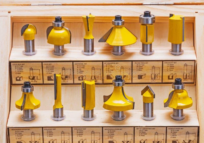 Комплект битов маршрутизатора roundover для woodworking стоковые фотографии rf