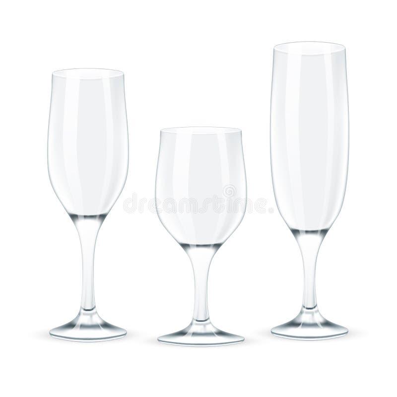 Комплект бокала. иллюстрация вектора