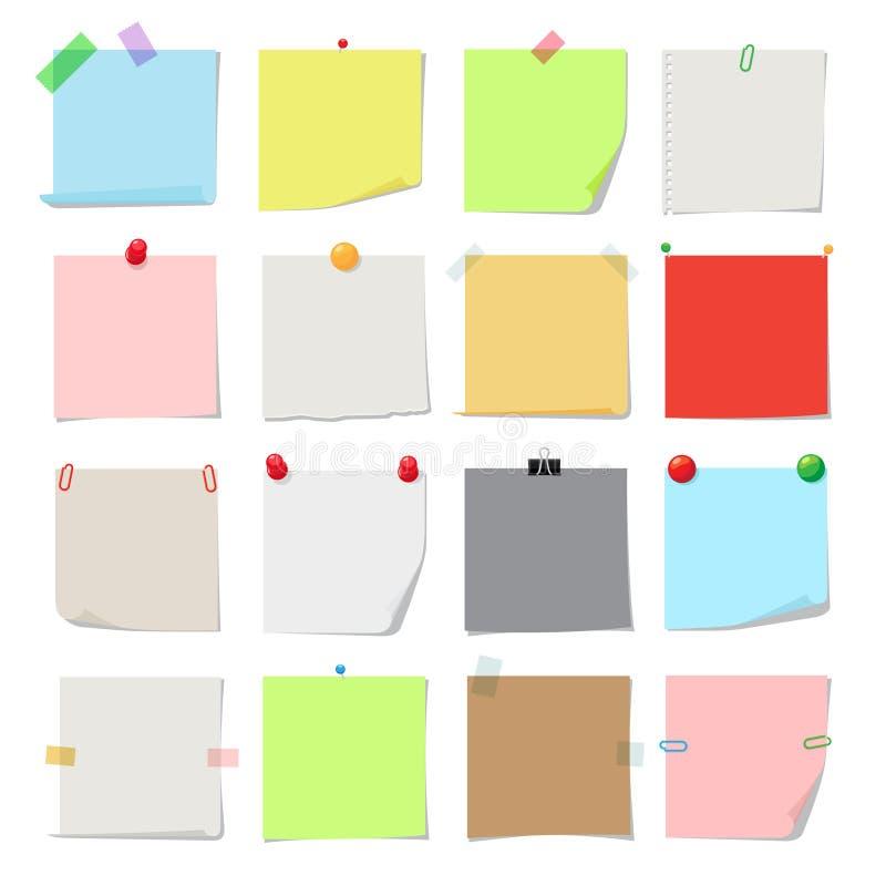 Комплект бумаги примечания бесплатная иллюстрация