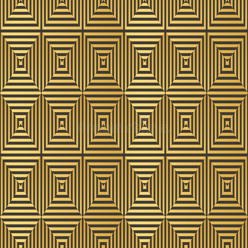 Комплект вектора безшовных картин в стиле стиля Арт Деко винтажном иллюстрация штока