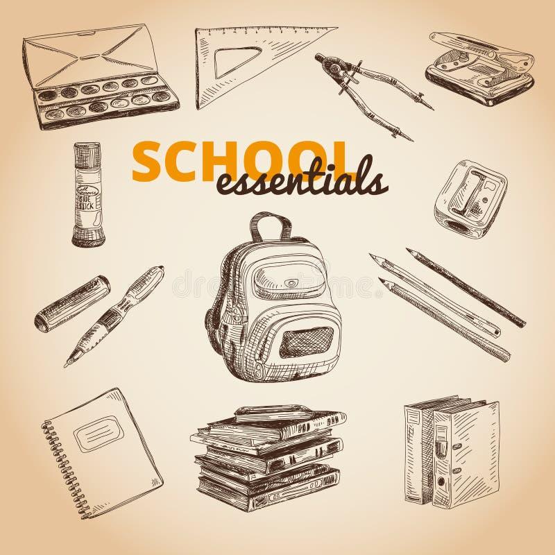 Комплект вектора деталей школы бесплатная иллюстрация
