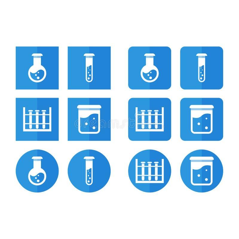 Комплект вектора значков для химии для стиля предкрылка бесплатная иллюстрация