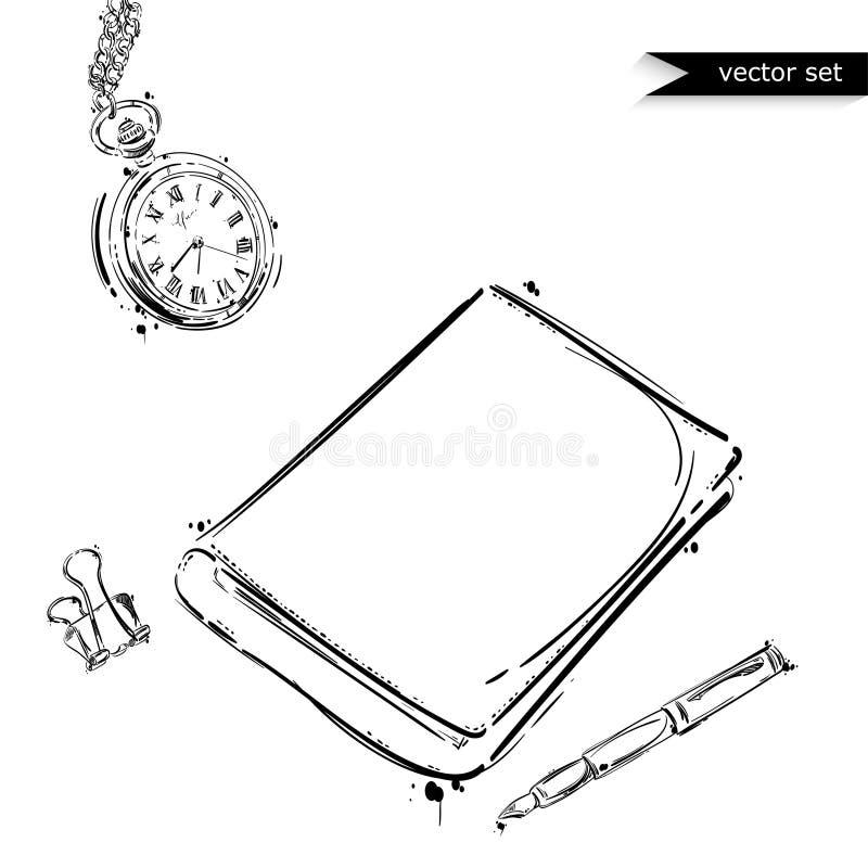 Комплект вектора инструментов Изолят на белой предпосылке иллюстрация штока