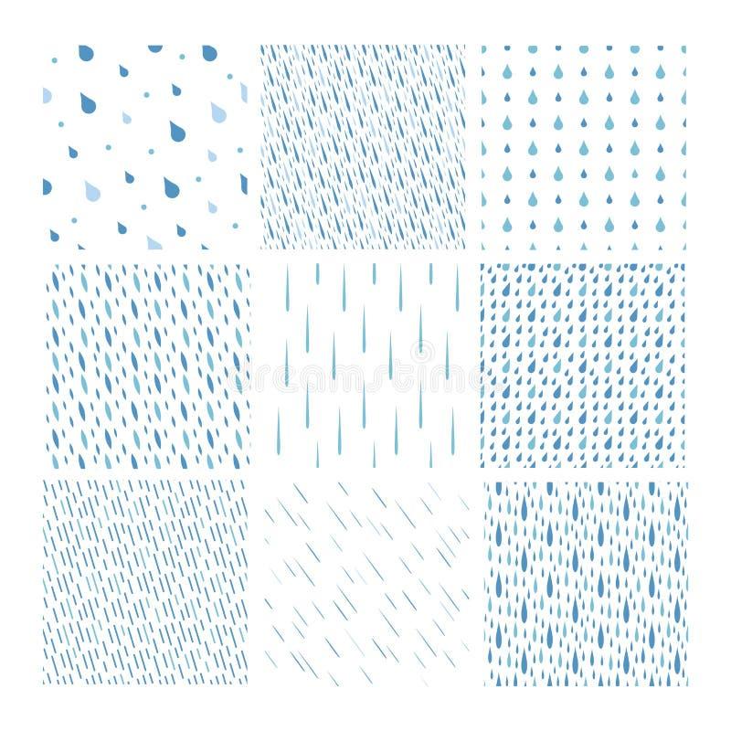 Download Комплект вектора картины падений дождя Иллюстрация вектора - иллюстрации насчитывающей дождь, декор: 81801474
