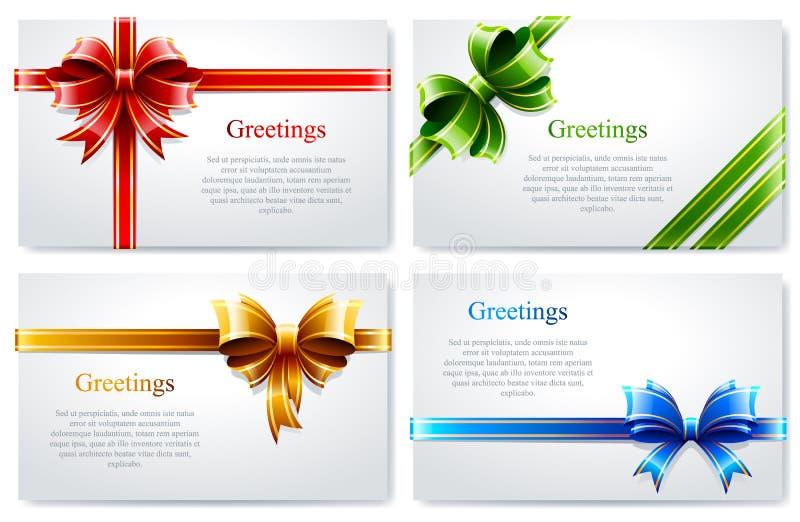 Комплект вектора красивых визитных карточек бесплатная иллюстрация