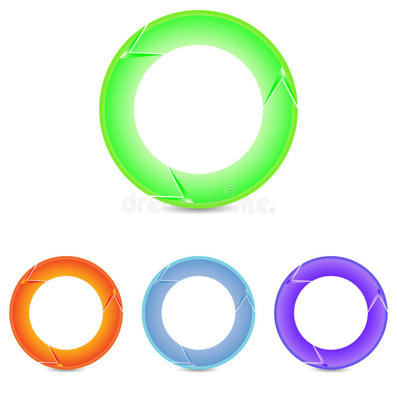 Комплект вектора круглых ярких стрелок стоковая фотография