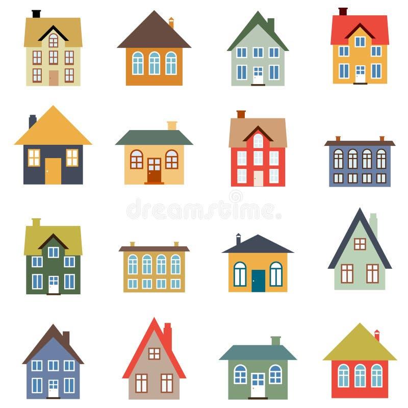 Комплект вектора дома иллюстрация штока
