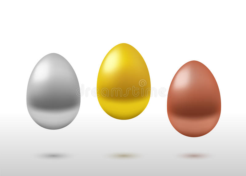 Комплект вектора реалистический яичек бесплатная иллюстрация