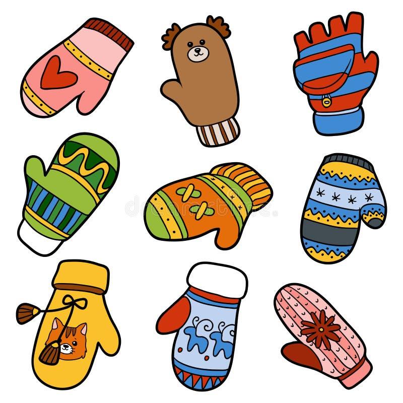 рисунок рукавички с узором пройдемся якутской