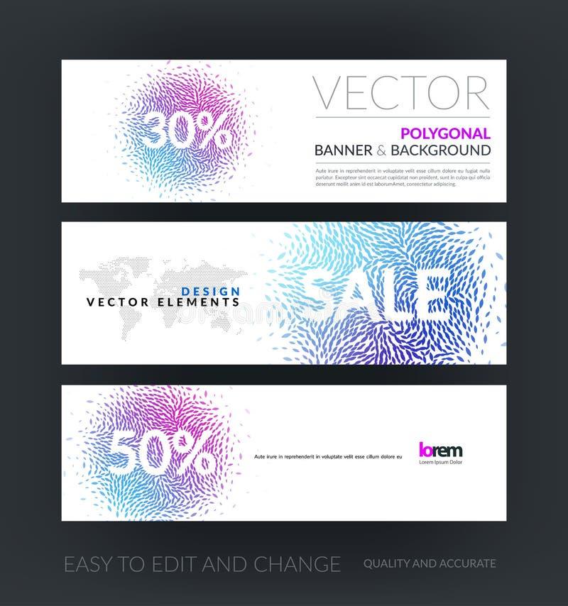 Комплект вектора современных горизонтальных знамен вебсайта с beauti продажи иллюстрация штока