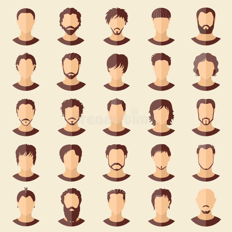 Комплект вектора стильных парней в современном плоском дизайне иллюстрация вектора