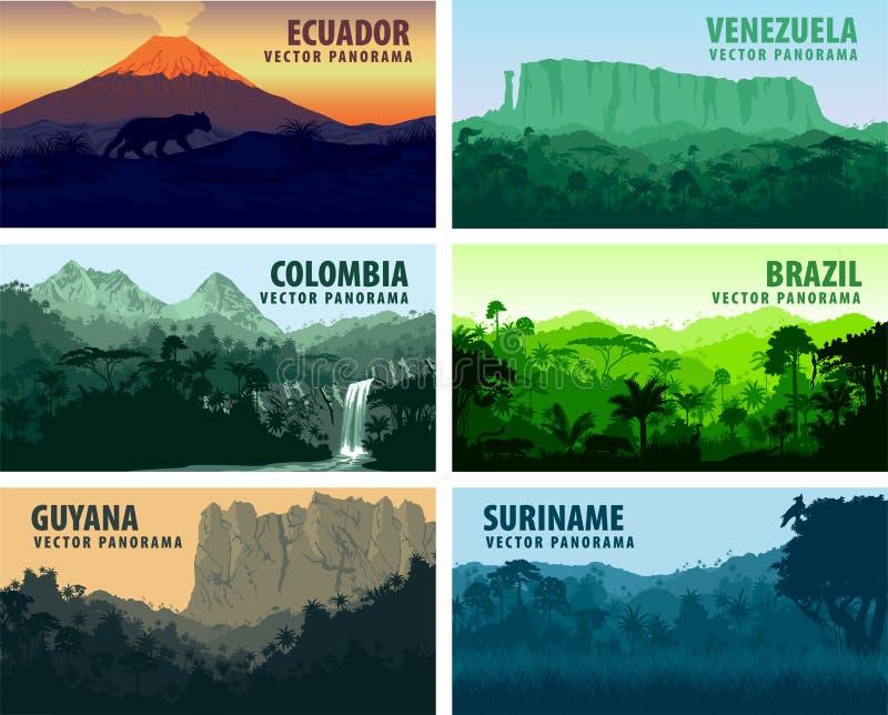 Download Комплект вектора стран Южной Америки Panorams Иллюстрация вектора - иллюстрации насчитывающей атаксия, амбивалентности: 81800758