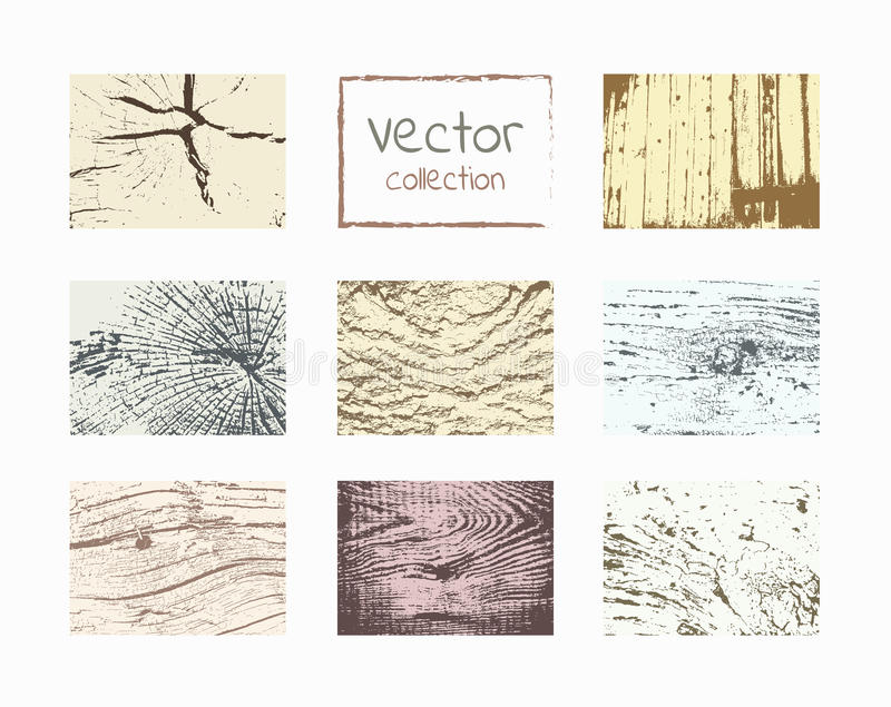 Комплект вектора текстур древесины бесплатная иллюстрация