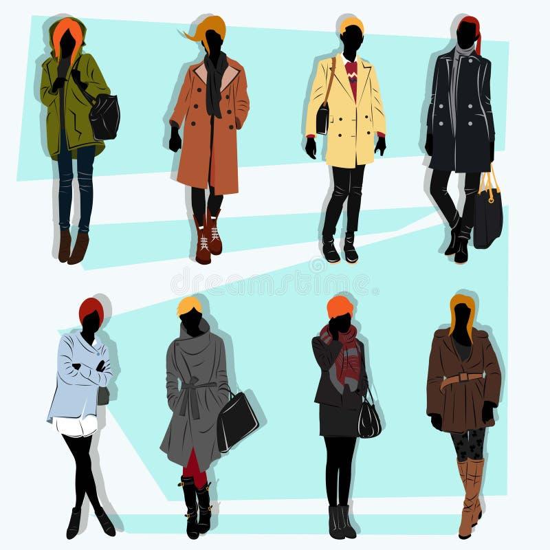 Комплект вектора улицы моды Лондона иллюстрация вектора