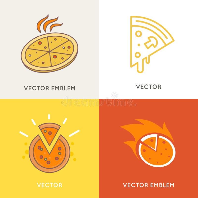 Комплект вектора шаблонов дизайна логотипа иллюстрация штока