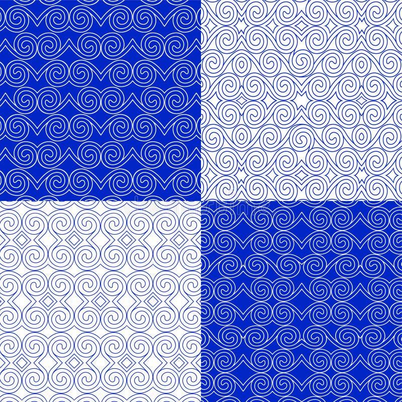 Комплект вектора этнических геометрических картин Восточный орнаментальный стиль бесплатная иллюстрация
