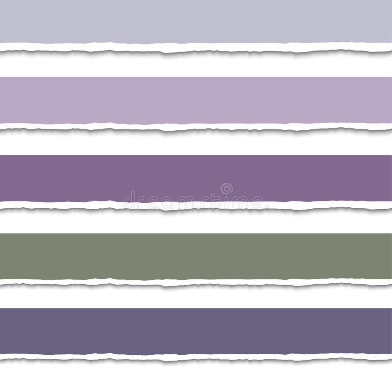 Комплект вектора lacerated листов бесплатная иллюстрация